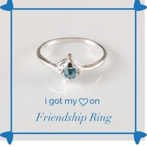 👶5/$25 Teal Blue Oval CZ Friendship Ring